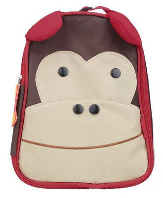 New Toddler Children Kids Animal Zoo Picnic Insulated Lunch Bag Nursery Monkey