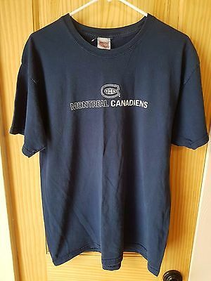 Montreal Canadiens Nhl Official Canadiens Brand Navy Blue Graphic T-Shirt Size L