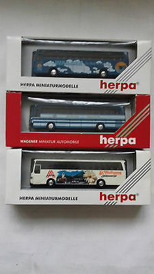 3 X HERPA 1/87 Scale MODEL COACH / BUSES
