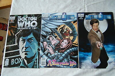 Doctor Who IDW American Comics featuring 2nd and 11th Doctors.