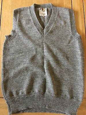 Vtg 1940s Style Tank Top Sweater Guernsey Wool Goodwood Re-enactment
