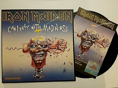 """Iron Maiden  Can a play with madness  12"""" Spanish press + AD"""