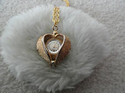 Swiss Made 17 Jewels Incabloc Sellita Wind Up Necklace Pendant Watch