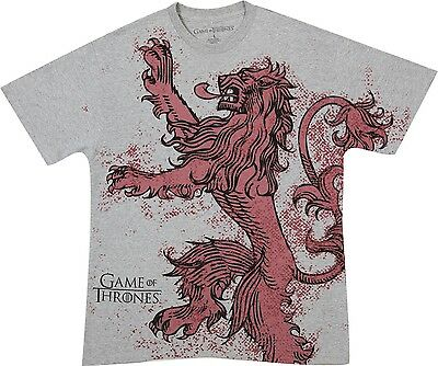 HBO Game Of Thrones HOUSE LANNISTER LION SIGIL CREST T-Shirt S-3XL NWT Licensed