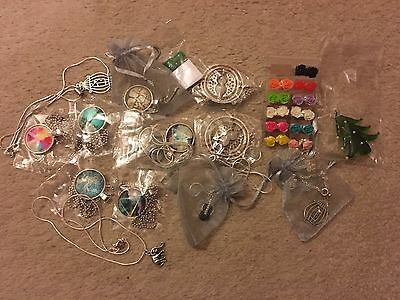 Joblot of Costume Jewellery Inc Glass & Silver Plated Items Earrings Necklaces