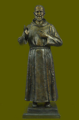 Father Pio Bronze Statue 60 cm Long for OUTDOORS/INDOORES Sculpture Figurine