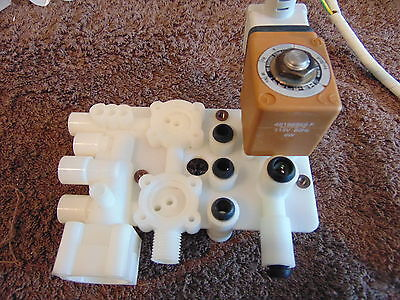 Lucifer Valves with Solenoid Manifolds, (Lot of 3) 493500T4F, 481865F, 481865K8F