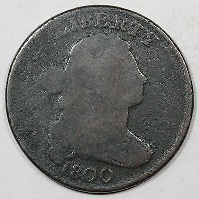 1800 S-200 R-3 Large Planchet Draped Bust Large Cent Coin 1c