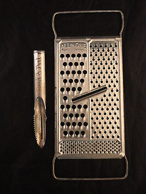 Vintage ALL IN ONE FLAT Grater + Real-A-Peel Peeler