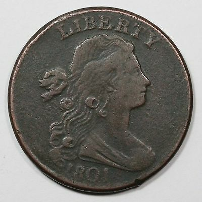1801 S-221 R-2 Corrected Fraction 100/000 Draped Bust Large Cent Coin 1c