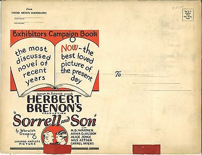 *SORRELL AND SON (1927) H.B. Warner Complete Silent Film Pressbook WITH HERALD