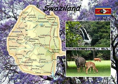 Swaziland Country Map New Postcard
