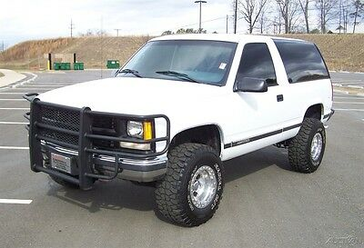 1995 Chevrolet Tahoe 1-OWNER 4X4 V8 LIFT 33'S K5 BLAZER CHEVY WAGON OUTHERN FUEL INJ 5.7L 350 V8 COLD AC TINTED GLASS DUALS 4WD LIK GMC YUKON JIMMY