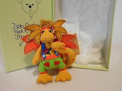 DEB CANHAM MINIATURE TEDDY BEAR DAPPLED DRAGONS CUSTARD #395/1500 w/BOX & TAG
