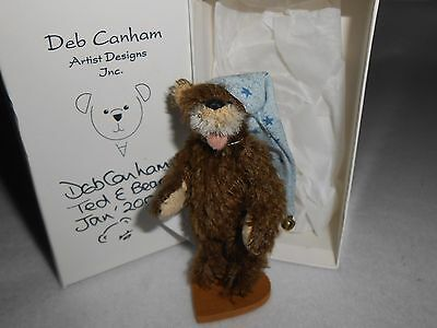 Deb Canham Miniature Teddy Bear East Coast Special #58/800 Happy Chap