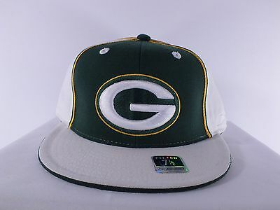 Green Bay Packers Nfl Adult 7 1/2, 7 3/8, 7 7/8 Fitted Cap Hat (H-50)
