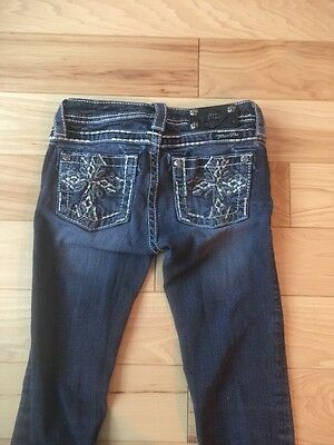 Miss Me Jeans Girls Size 12 Skinny MISSING BUTTONS Good Condition