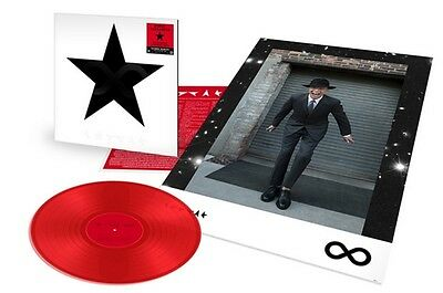 """NEW DAVID BOWIE is EXCLUSIVE Limited Black Star 12"""" Transparent Red Vinyl Tokyo"""
