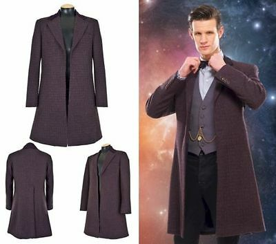 Doctor Who Official 11th Dr Eleventh Cosplay Purple Frock Coat Size Large new