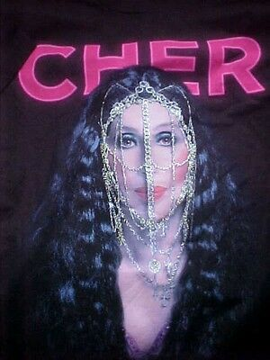 """Cher 2014 """"Dressed To Kill"""" ChainsT-Shirt (XXL) Official Tour Mdse.Brand New"""