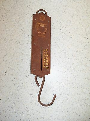 Vintage Chatillons Spring Ballanced Scale 50 Lb. Fisherman's Scale