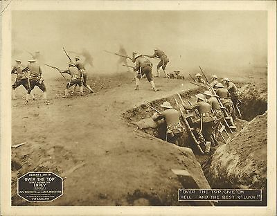 OVER THE TOP (1918) Vitagraph WWI Silent Film British Soldiers Charge the Huns