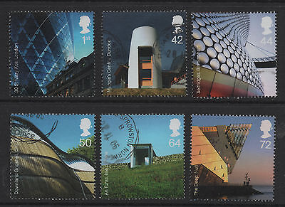 1) GB Stamps  2006 Modern Architecture Full Set Good Used.