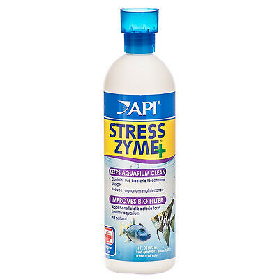 API Stress Zyme 473ml Live Bacteria Filter Booster Maintenance Starter Aquarium