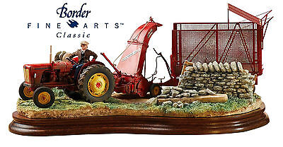 NEW Border Fine Arts Classic David Brown Tractor & Harvester  A Tight Turn B1220