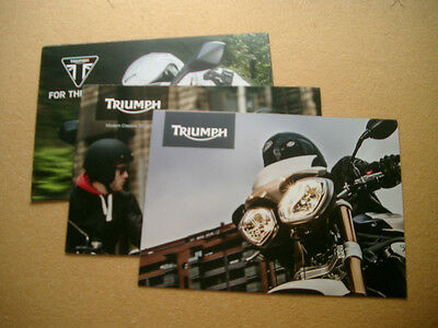 2013 2014 Triumph Motorcycle Poster Brochure Catalog Thruxton Daytona Set