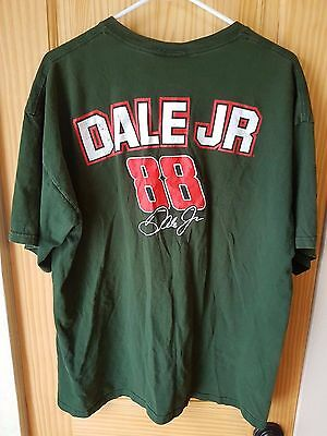 Dale Earnhardt Jr. #88 Chase Authentics National Guard Green Jersey T-Shirt Xl