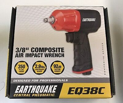 """Central Pneumatic EarthQuake 3/8"""" Composite Air Impact Wrench EQ38C"""