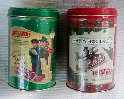 Life Savers Holiday Keepsake tins Limited Edition 1989 & 1990, Empty