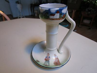 Antique Royal Bayreuth Chamber Candle Stick Holder Country Farm  Maidens
