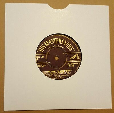 "THE MELACHRINO ORCHESTRA Selection From  the merry widow 7"" HMV ex/ex"