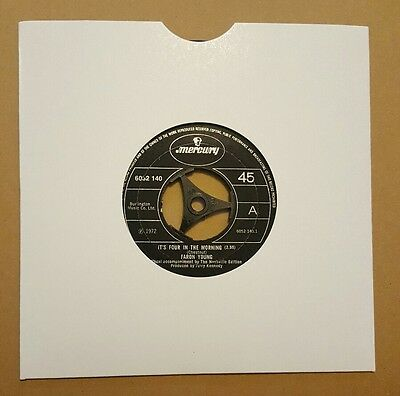 """FARON YOUNG, IT'S FOUR IN THE MORNING ,7"""" VINYL ex/ex"""