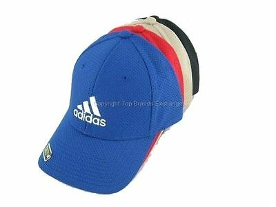 Mens Adidas Stretch Fit Cap Flex Fit Hat Baseball Basketball Black Navy Grey Red
