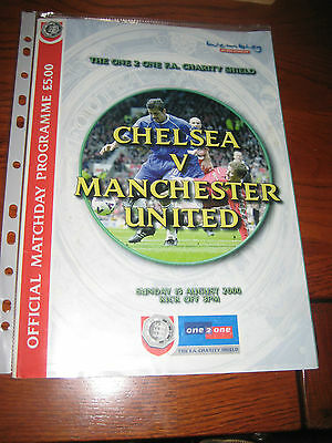 chelsea versus manchester united charity shield programme 2000