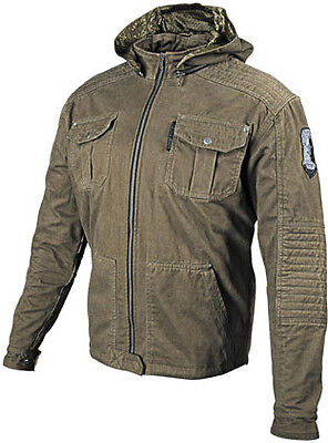 Speed Strength Dogs of War Armored Hooded Motorcycle Jacket All 87-8059