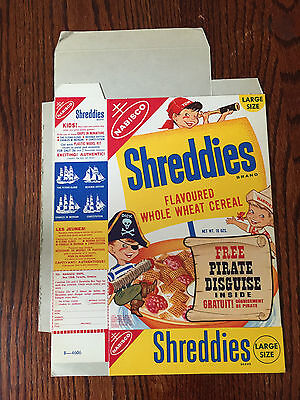 1950's Pirate Kids Disguise Offer Vintage Cereal Box Shreddies RARE Condition
