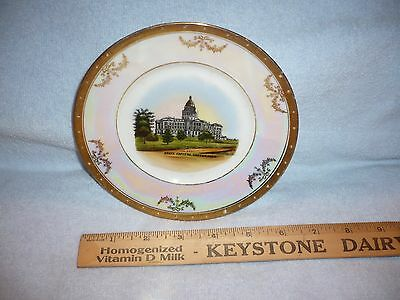 vintage state capitol denver colorado souvenir plate made in germany