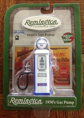 G8 Remington Established White/ Blue 1816 Die Cast Metal 1950's Style Gas Pump
