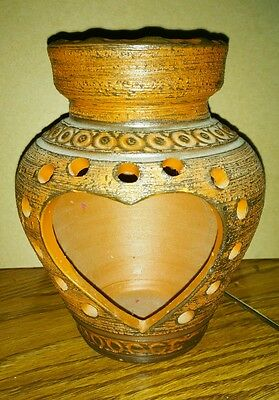 Handarbeit clay terracotta pottery candle holder