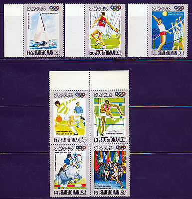 Oman 1968 Mexico Olympic Games - Soccer - Volleyball - Track - Yachting Set