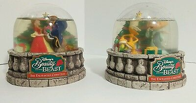 Disney Beauty And The Beast 1997 Ocean Spray Snow Globes
