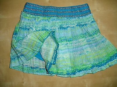 Justice Blue Tribal Gorgeous Skort (skirt with shorts) girls sz 10