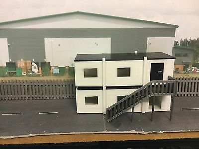 1:76 scale / 00 Gauge 3d Printed Stacked Portacabin / Site Office