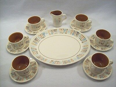 "6 Cup Saucer- Platter- Creamer MidCentury Atomic Starbust Taylorstone ""Moderne"""