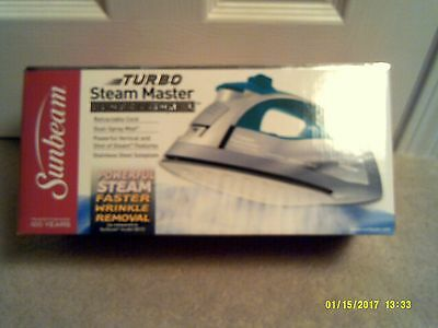 TURBO Steam Master Professional Iron by Sunbeam - Unopened - Made in 2011