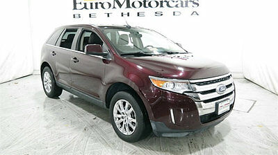 2011 Ford Edge 4dr Limited AWD ford edge limited awd 10 11 12 bordeaux red navigation leather pano used wagon